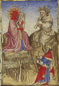 Christine de Pizan, Épître d'Othéa. Paris, c. 1406. 'The Judgement of Midas', Bibliothèque Nationale de France, Français 606
